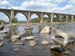 The beautiful arches of the James River Railway Bridge