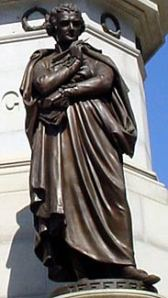 Thomas Jefferson on the George Washington statue at Capitol Square