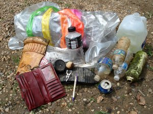 Trash collected from the James River