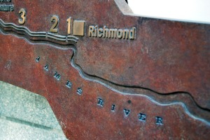 Richmond was the eastern terminus of the Kanawha Canal