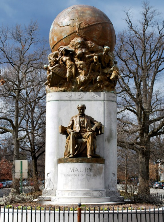 Statue of Matthew Fontaine Maury on Monument Avenue in Richmond, Virginia