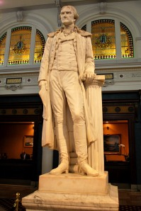 Thomas Jefferson has a statue in the lobby of the Jefferson Hotel